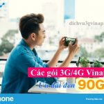 Các gói ưu đãi 90GB của Vinaphone