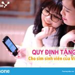 Quy định tặng data cho sim sinh vien của Vinaphone