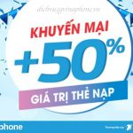 Khuyến mãi 50% thẻ nạp ngày vàng Vinaphone